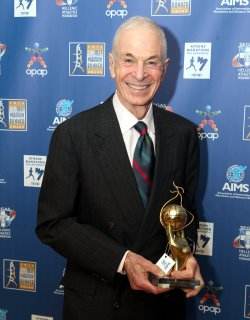 George Hirsch with his AIMS Lifetime Achievement Award