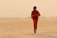 Running in the AIMS Children's Series 2008 at the Sahara Marathon in the Smara refugee camp in the far west of Algeria