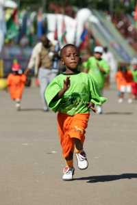young runner in the AIMS Children's Series 2007 at the Great Ethiopian Run in Addis Ababa