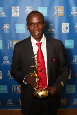 AIMS Best Marathon Runner award presented to Eliud Kipchoge