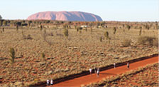 Uluru (Ayer's Rock) the sacred Aboriginal site in Central Australia