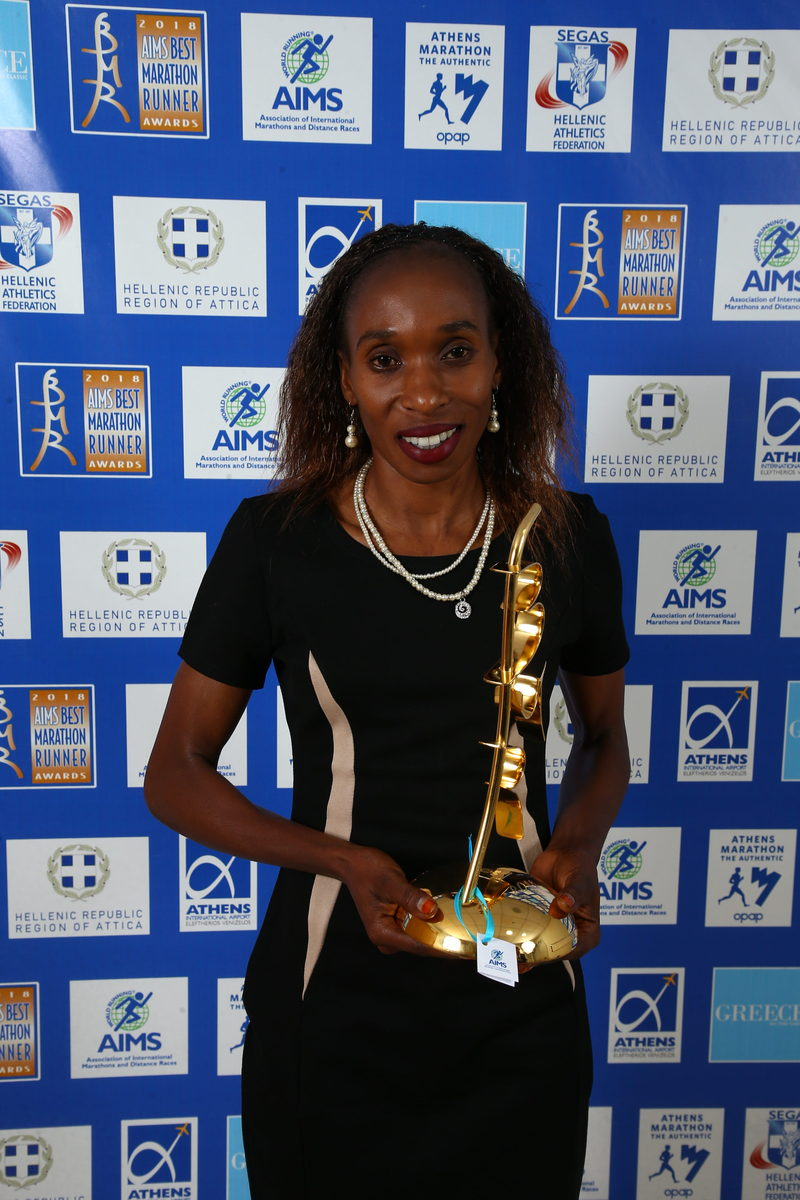 17b8adff9 The Association of International Marathons and Distance Races (AIMS) is  delighted to announce that the Kenyan athletes Eliud Kipchoge and Gladys  Cherono ...