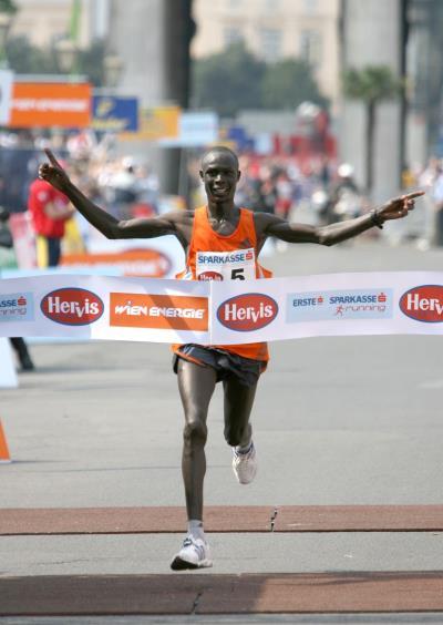 2c3939a631c8 Luke Kibet winning the 2007 Vienna City Marathon