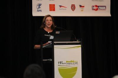 Kathrine Switzer speak at 2012 AIMS Congress