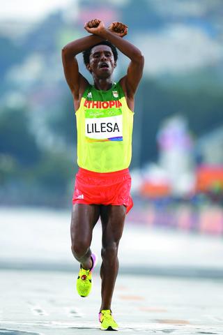 Feyisa lilesa olympics rio 3