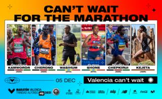 Elite athletes valencia marathon